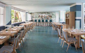 dining area at Viviane Restaurant Beverly Hills