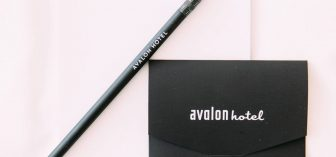 Avalon Hotel notebook and pencil