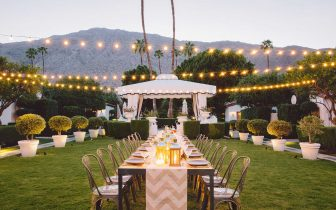 outdoor wedding venue at Avalon Hotel