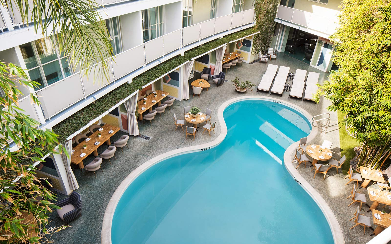 outdoor pool at Avalon Hotel Beverly Hills