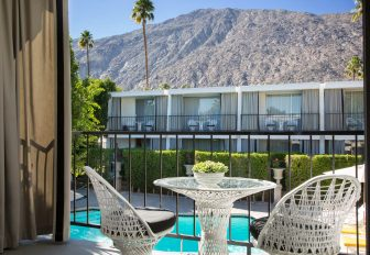 patio with a view at Avalon Palm Springs