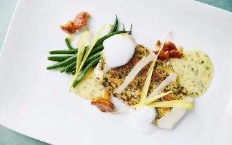 fish dinner at Viviane Restaurant Beverly Hills
