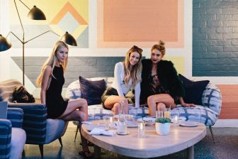 three women dining at Viviane Restaurant at Avalon Hotel Beverly Hills