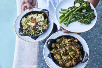 Viviane dining vegetables