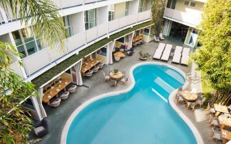outdoor pool at Avalon Hotel