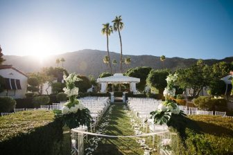 Regency Courtyard Wedding Seating_Avalon Palm Springs Hotel & Bungalows