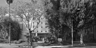 exterior shot of building and trees